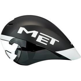 MET Drone Fietshelm, black/white